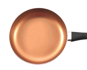 Copper Non-Stick Frying Pan 24cm Handle by Idaman Suri