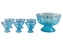 Acrylic Blue Punch Bowl Set