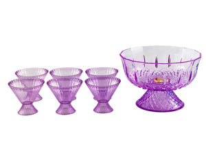 Acrylic Purple Punch Bowl Set
