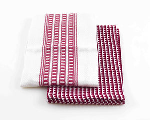 Zeena 2pc Wine Red Kitchen Towel