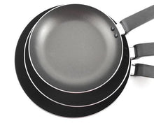 Top Angle 3pcs Black Non-Stick Frypan by Idaman Suri