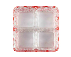 Acrylic Red Square Snack Tray