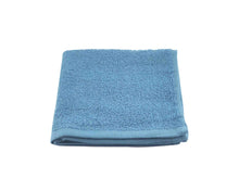 Folded Blue Cotton Towel by Idaman Suri