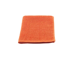 Folded Orange Cotton Towel by Idaman Suri