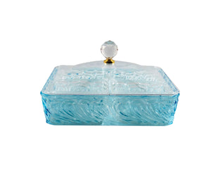 Acrylic Blue Square Snack Tray