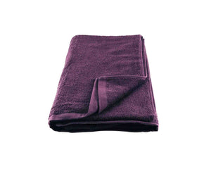 Folded Purple Cotton Towel by Idaman Suri