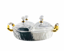 Round Acrylic Snack Tray with Handles