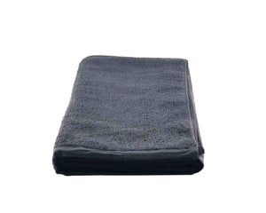 Folded Grey Cotton Towel by Idaman Suri