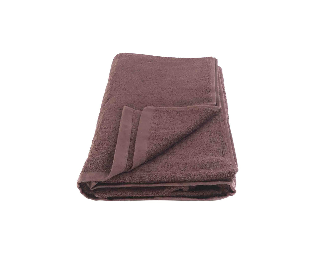 Folded Brown Cotton Towel by Idaman Suri