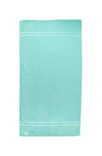 Opened Turquoise Cotton Towel by Idaman Suri