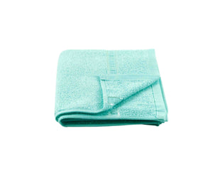 Folded Turquoise Cotton Towel by Idaman Suri
