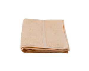 Folded Peach Cotton Towel by Idaman Suri