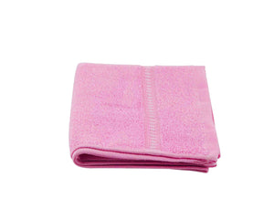 Folded Pink Cotton Towel by Idaman Suri