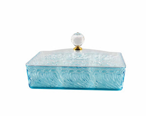 Rectangular Blue Acrylic Snack Tray