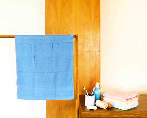 Folded Beige Cotton Towel by Idaman Suri