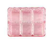 Rectangular Red Acrylic Snack Tray