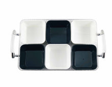 Acrylic Snack Tray with Handles