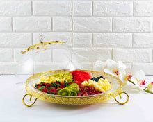 Mini Flat Acrylic Dessert Server with Dome