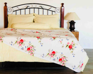 White Floral Soft Blanket