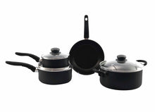 Black Non-Stick 4pcs Cookware Set