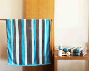 Opened Striped Cotton Towel by Idaman Suri