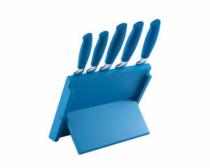 Blue Royalty Line 6pcs Precision Cooking Knives