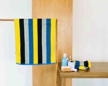 Opened Striped Mix-Color Cotton Towels by Idaman Suri