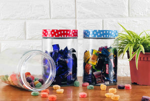 Polka Blue Candy Jar
