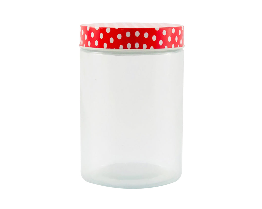 Polka Red Candy Jar