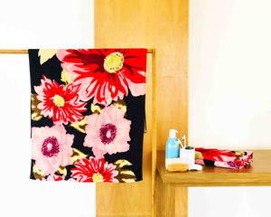 Opened Floral Cotton Towel by Idaman Suri