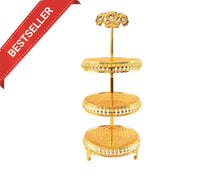 Three-Tiered Gold Tray