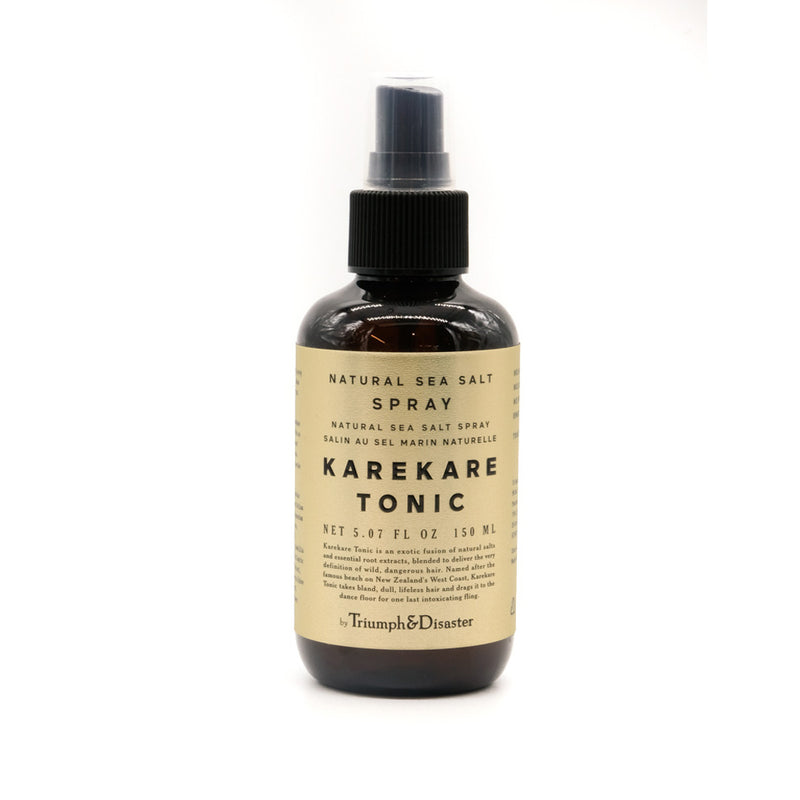 mens grooming products, mens hair products, male grooming tools, skincare, male skincare, Hair, Sydney, Australia, barber, male grooming, mens retail, male style, conditioner, online shopping, mens gifts, barberhood, barbershop, Triumph and Disaster Karekare Tonic, sea spray,