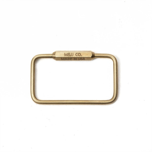 Brass Rectangle Key Ring