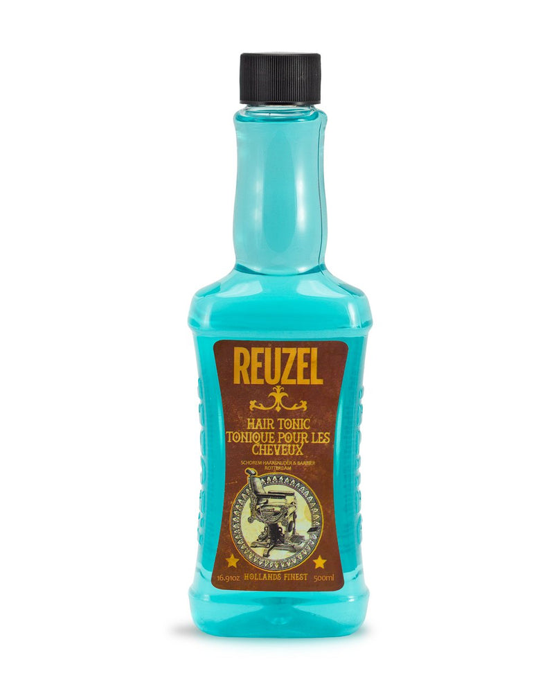 Reuzel Hair Tonic 350ml, Mensbiz, Haircare, Barbershop, Barber, The barberhood, traditional shaving, Mens hair, beard trim, male grooming, service, personal barber, shampoo, conditioner, grooming products, razor, male style, retail, online shopping, hair products, shaving, mens styling, modern man