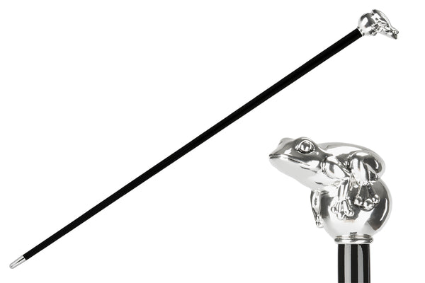 Silver Frog Cane