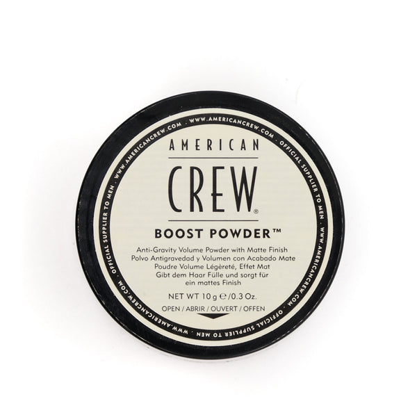 volume power, matte finish, hair lift, thickness, american crew, boost powder, texture, gravity defying, styling, mens grooming, barber