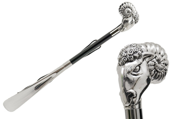 Silver Ram Shoehorn