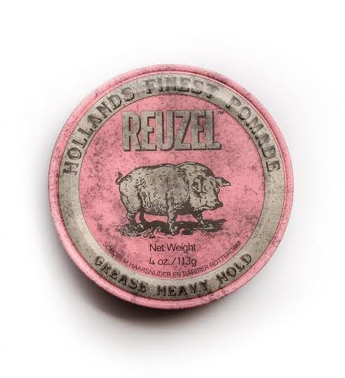 Reuzel Pink Heavy Grease 113g, Mensbiz, Haircare, Barbershop, Barber, The barberhood, traditional shaving, Mens hair, beard trim, male grooming, service, personal barber, shampoo, conditioner, grooming products, razor, male style, retail, online shopping, hair products, shaving, mens styling, modern man