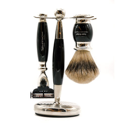 Black Mach3 Super Edwardian Shaving Set