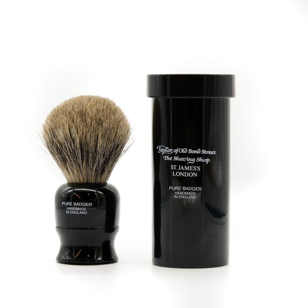 mens grooming products, mens hair products, male grooming tools, skincare, male skincare, Hair, Sydney, Australia, barber, male grooming, mens retail, male style, conditioner, online shopping, mens gifts, barberhood, barbershop, Pure Badger Shaving Brush in Travel Case, luxurious, hand made