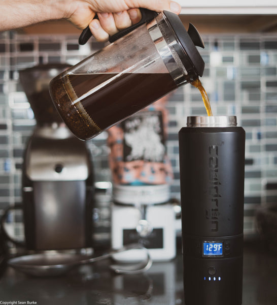 The best way to make coffee on the go with the Cauldryn Fyre