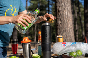 Cauldryn blender attachment for campsite margaritas