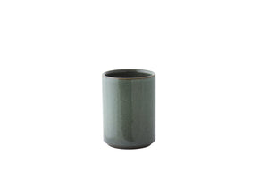 tasse à thé empilable verte — green stoneware stacking cup