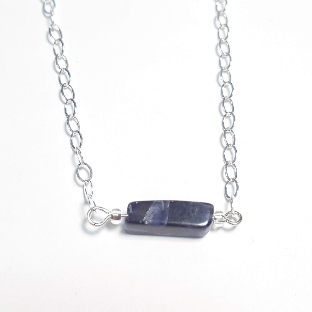 Rectangular Sodalite Necklace