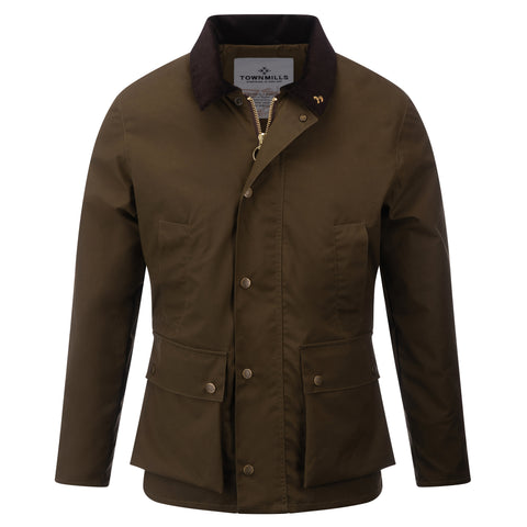 Mens Glastonbury Wax Jacket Brown