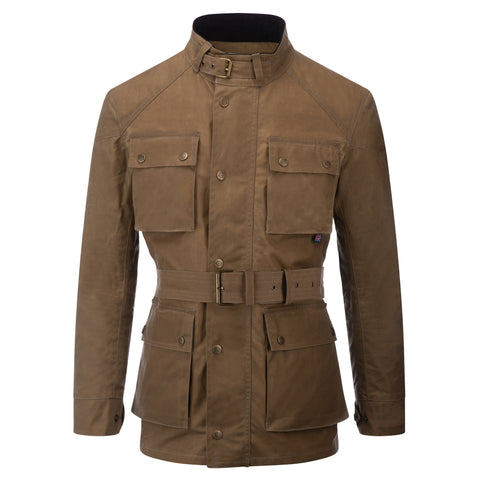 Mens Soho Motorcycle Wax Jacket Tan