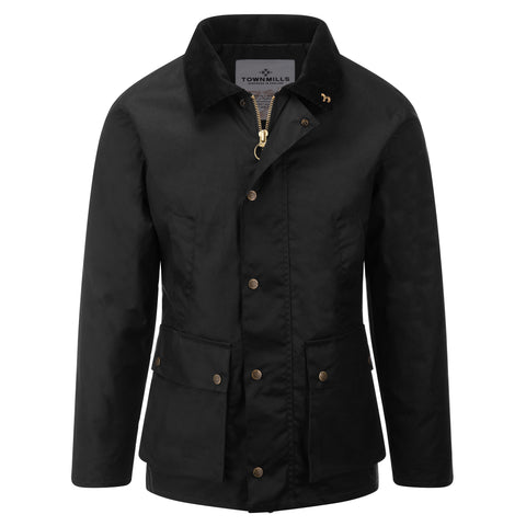 Mens Banbury Wax Jacket Black