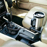 Stainless steel 12V Car mug sits snugly in your car cup holder and plug, Double wall stainless steel Car Electric Mug use a car battery for Heating. It KEEPS the DRINK WARM, It keeps the drink Hot No leak & easy open twist top and keeps fresh, light, durable, and easy to carry. Travel Happy journey With Special Heated Mug, Easy to use/maintain. Material : Stainless Steel, Color: Black&Silver.