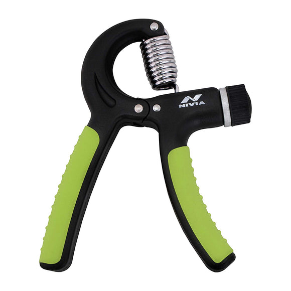 Nivia Hand Gripper - Best Hands Exerciser - Grip Strengthener - Adjustable Resistance Range 10 to 40 Kg (Black). Increased Forearm Muscularity. Increased Hand Strength. Hand Endurance. Improved Dexterity and Calmness.