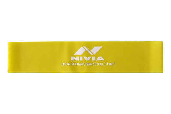 Nivia Home Fitness Lateral Resistance Band 2.0 used by men and women of all fitness levels a loop resistance band increases the effectiveness of your exercises enormously. Exercises like jump squats and lunges. Our nivia resistance bands are easy to carry and you can train everywhere at any time. Tension of the resistance band 21-35 kg. often used as an alternative or supplement to yoga, pilates, stretching exercises, crossfit, fitness, insanity, zumba, p90x or other training programs.